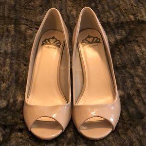 EUC FERGALICIOUS peep toe heels
